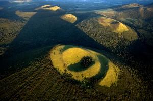 puy de Come, cratere emboite, Chaine des puys, vue aerienne, dep63, Auvergne